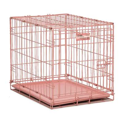 iCrate Single Door Dog Crate in Blue or Pink