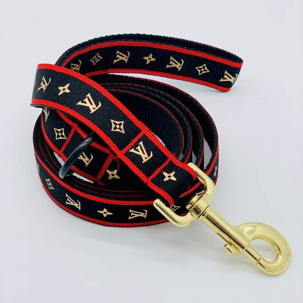 "Dog Collars - Chic Designer Dog Leash - ""The Chewie Patton Leash"""