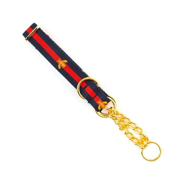 "Dog Collars - Golden Bee Martingale Dog Collar - ""The Poochie Martingale """