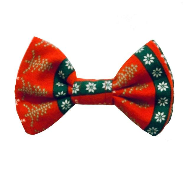 Dog Collars - Nordic Holiday Dog Bow Tie