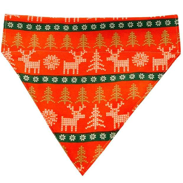 Dog Collars - Nordic Holiday Dog Bow Tie And Scarf Set