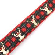 Dog Collars - Reindeer Plaid Dog Collar