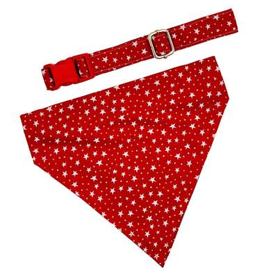 Dog Collars - The Patriotic Star Dog Collar & Scarf Set