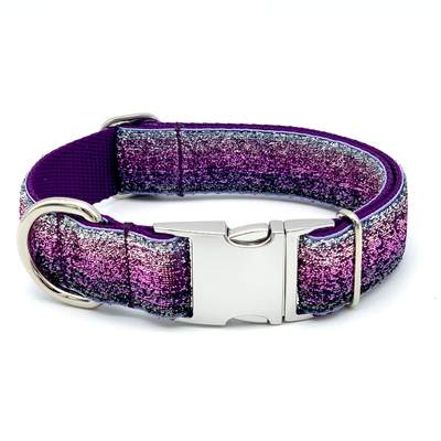 Shimmering Purple Ombre Dog Collar