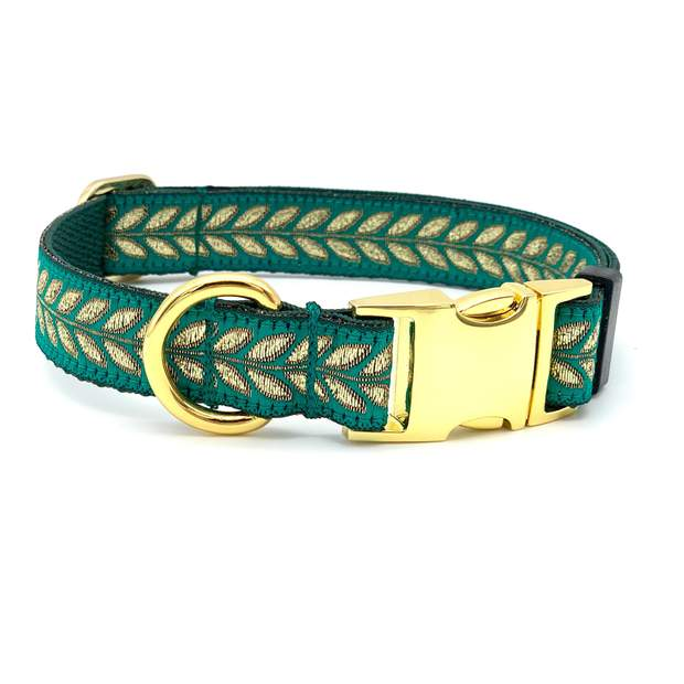 Jewel Toned Metallic Dog Collar