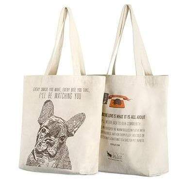 Owner Apparel - Best In Show Funny Dog Tote Bag - Frenchie (I'll Be Watching You)
