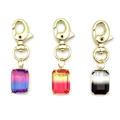 Pet Jewelry - Ombré Crystal Emerald Cut Dog Collar Charms