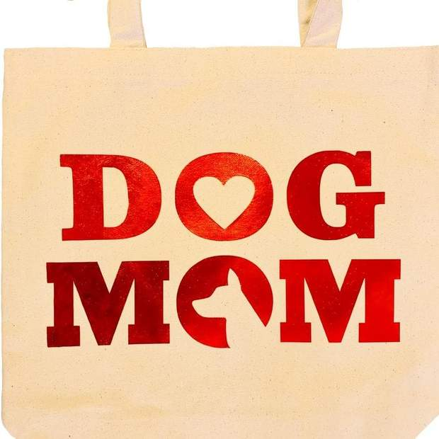 Pet Lifestyle - Dog Mom Canvas Shopping Tote Bag