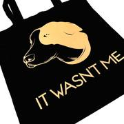 Pet Lifestyle - Funny Dog Black Canvas Shopping Pet Tote Bag