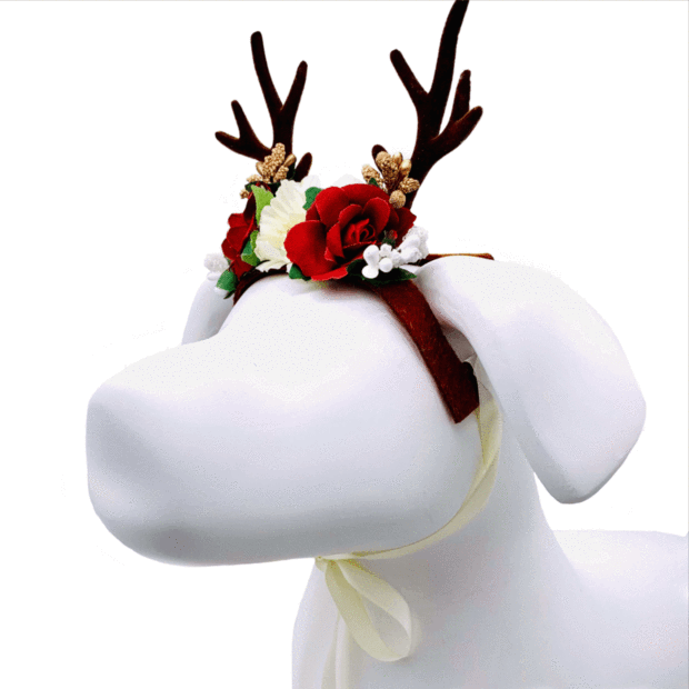 Pet Lifestyle - Holiday Reindeer Pet Costume For Dogs And Cats