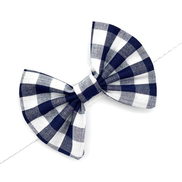 Pet Lifestyle - Vichy Checkered Pet Collar Bow Tie