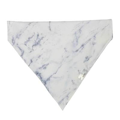 Pet Lifestyle - White Marble Pet Bandanna By Xxxheidimayne (VRBH)