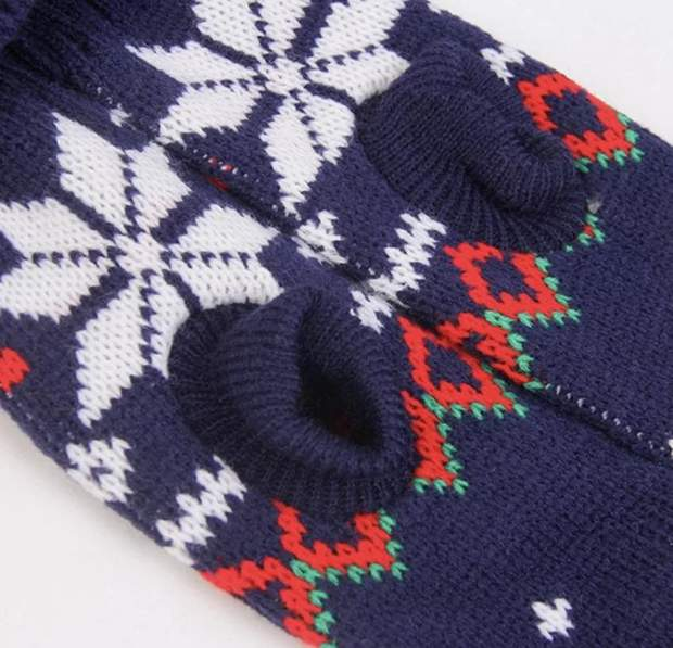 Pet Shirts - Fair Isle Snowflake Dog Sweater