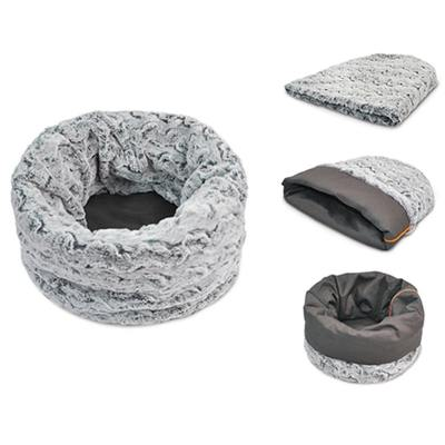 Dog Beds - Snuggle Bed For Dogs And Cats - Husky Grey