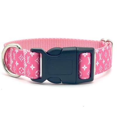 Pink Designer Inspired Dog Collar