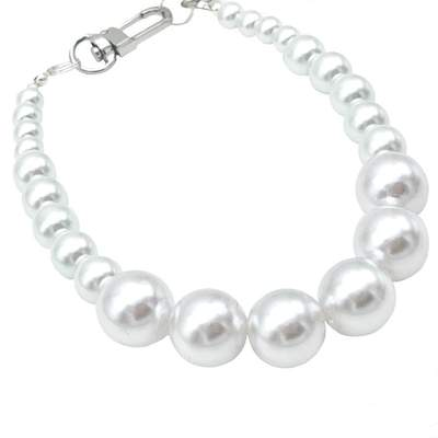 Pet Jewelry - Jackie O's White Pearl Dog Collar Necklace