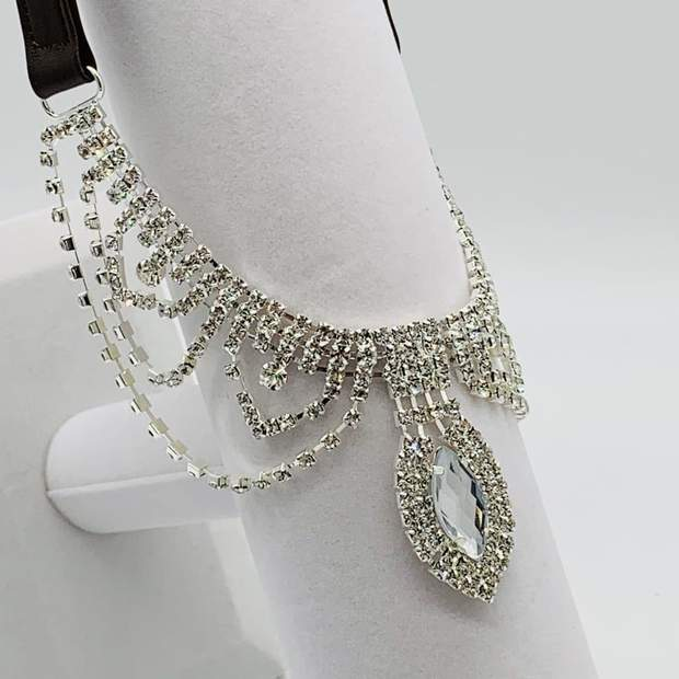 Pet Jewelry - My Little Princess Teardrop Crystal Rhinestone Dog Collar Necklace