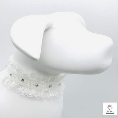 Pet Jewelry - Rhinestone & Lace Pet Collar Necklace