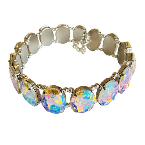 "Pet Jewelry - Sparkling Crystal Rhinestone Pet Collar Necklace - ""The Aurora"""
