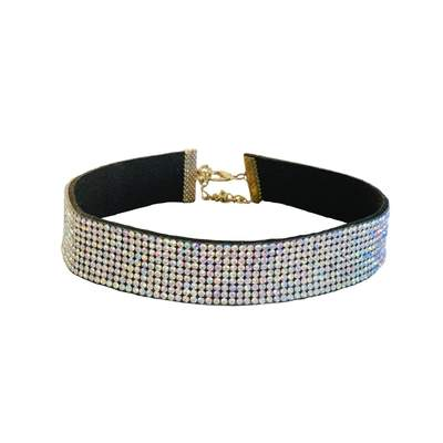 Pet Jewelry - The Petit Marchioness - Small Band Rhinestone Pet Necklace